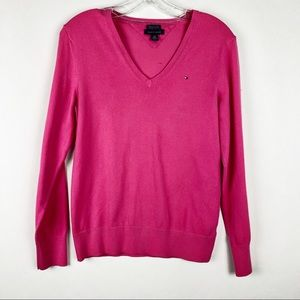 Tommy Hilfiger Pima Cotton Blend Vneck Sweater